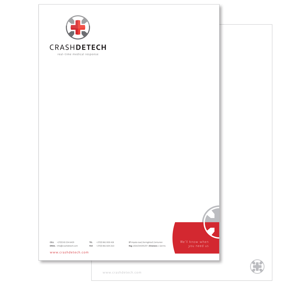 CrashDetech Corporate Stationery